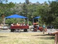 KQ Ranch Resort - Tractor pull rides in the park