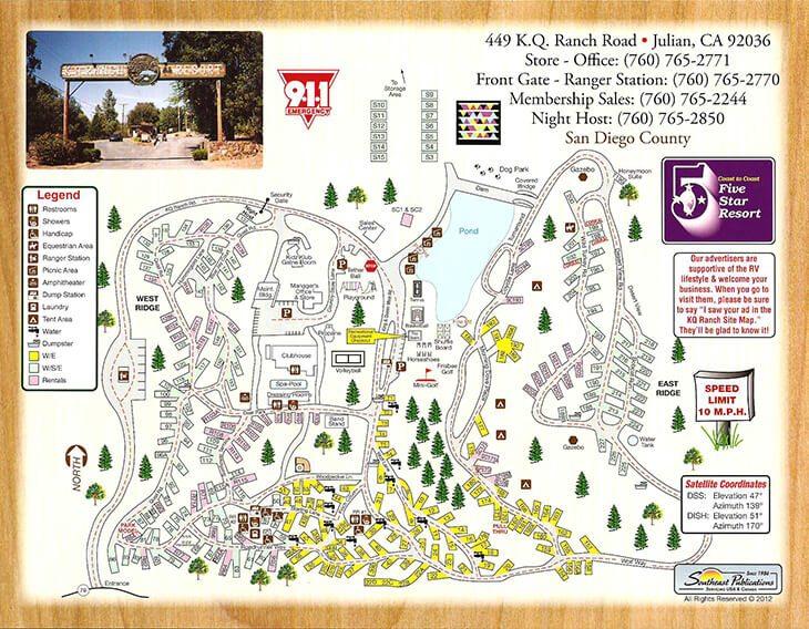 KQ Resort Park Site Map