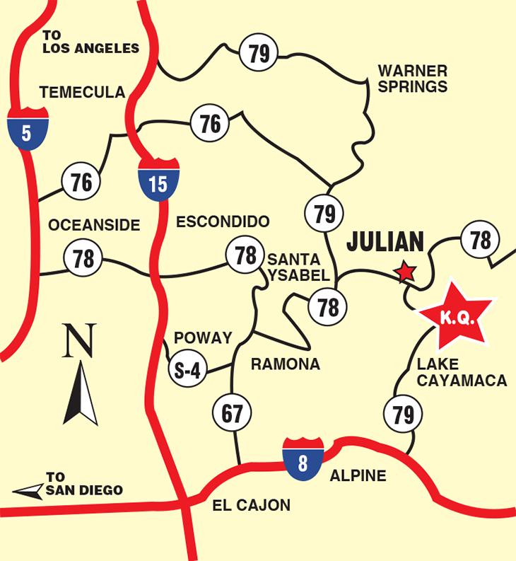 KQ Ranch Resort - Resort Driving Map
